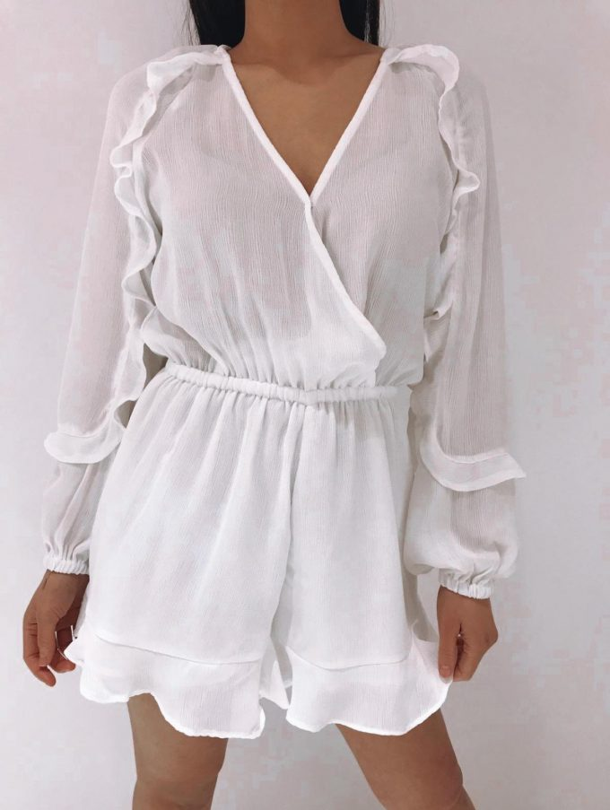 Playsuit white.