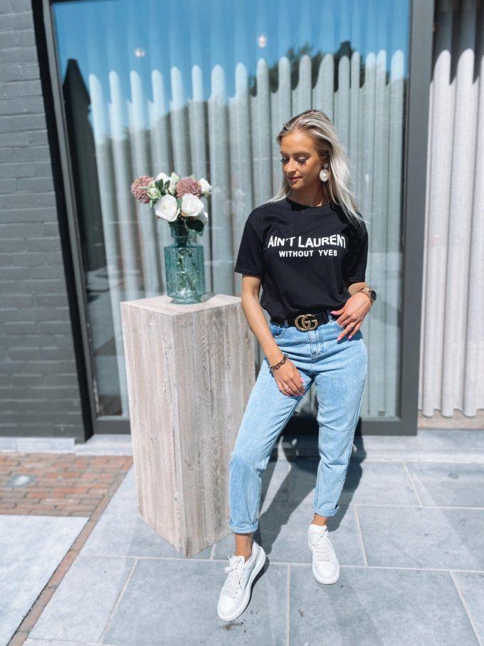 T-shirt AIN'T LAURENT BLACK.