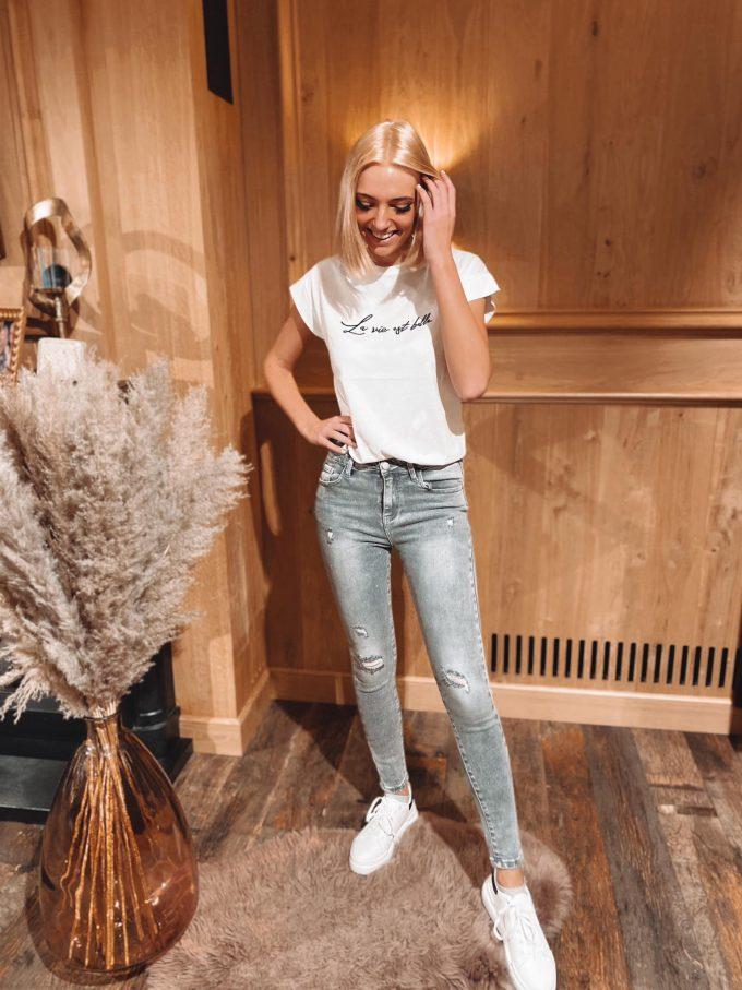 Jeans blinkertjes/scheurtjes.
