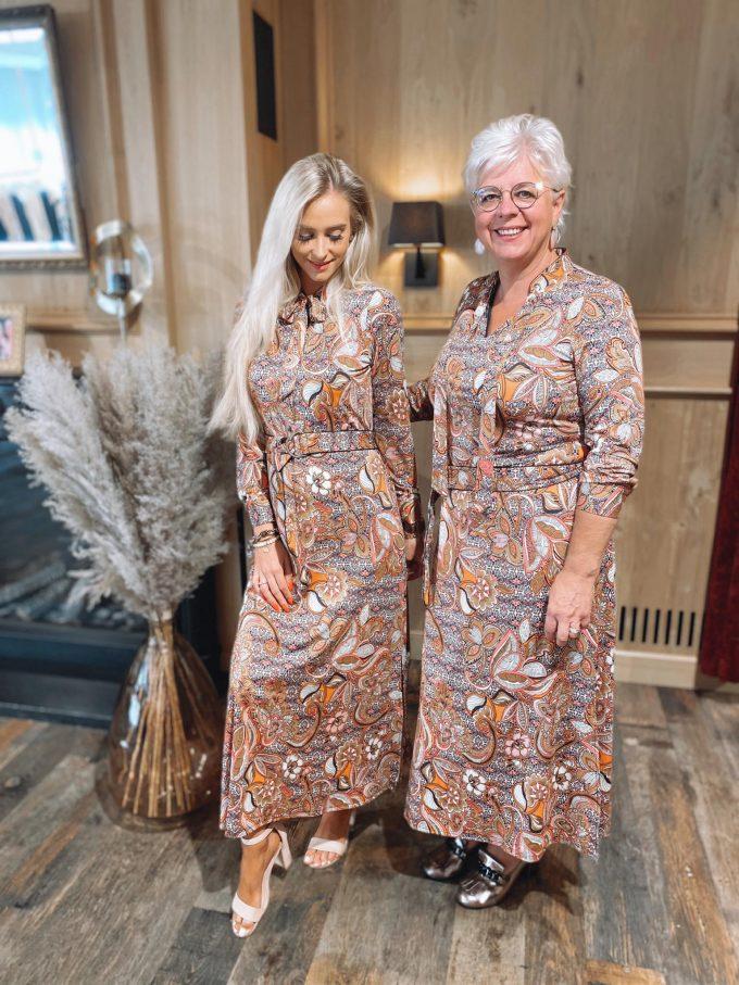 Maxi dress met print.