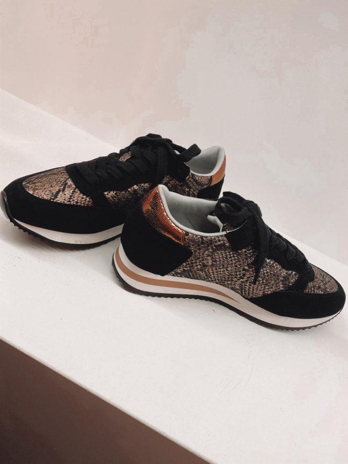 Sneaker print/brons.