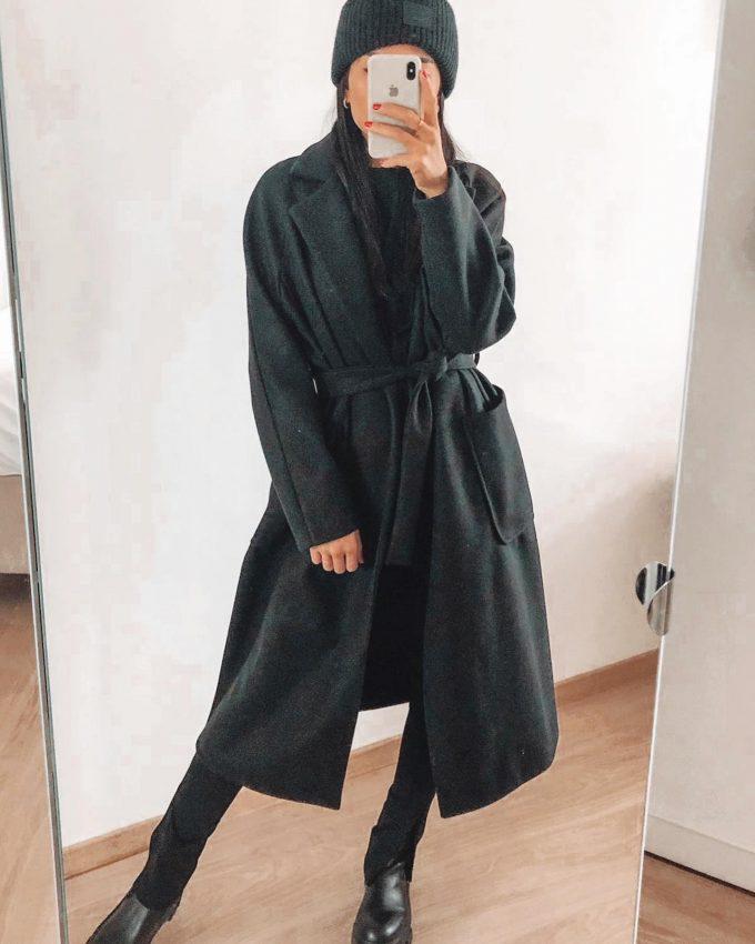 Lange mantel/lint.