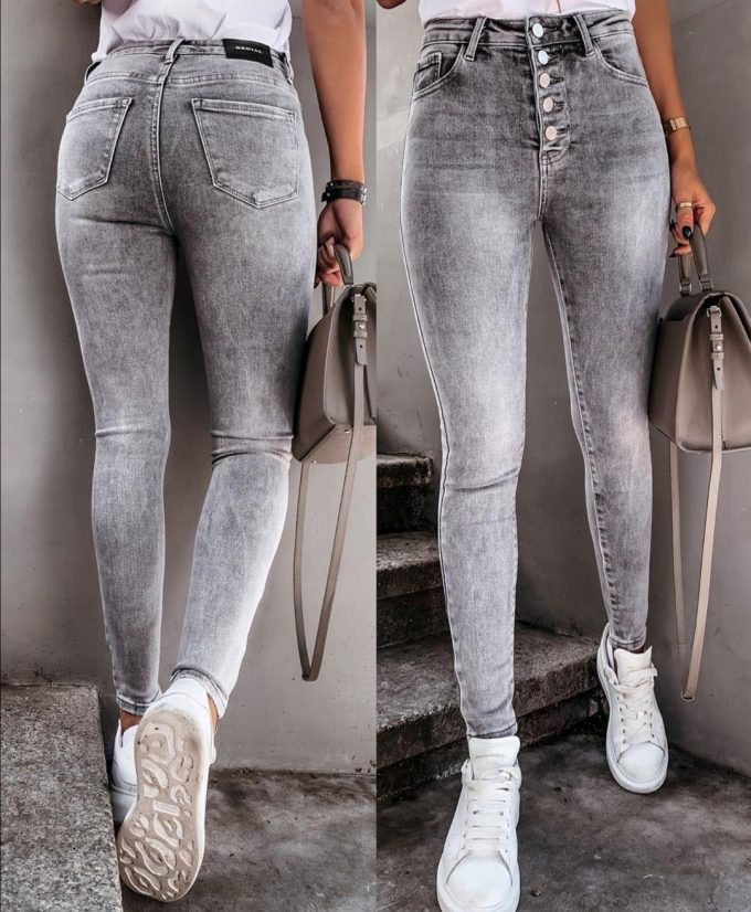 Skinny jeans knopen.