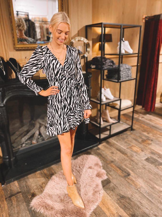 Zebra dress.