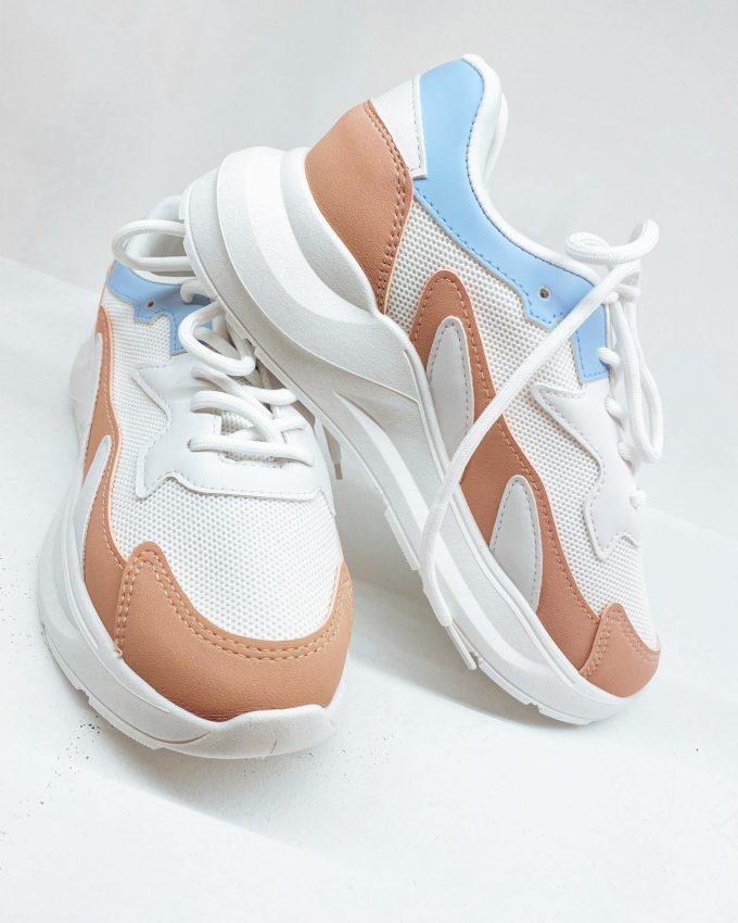 Sneaker roze/blauw.