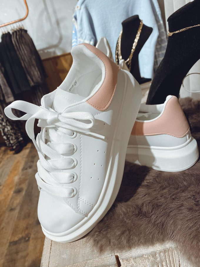 Sneaker white/pink.