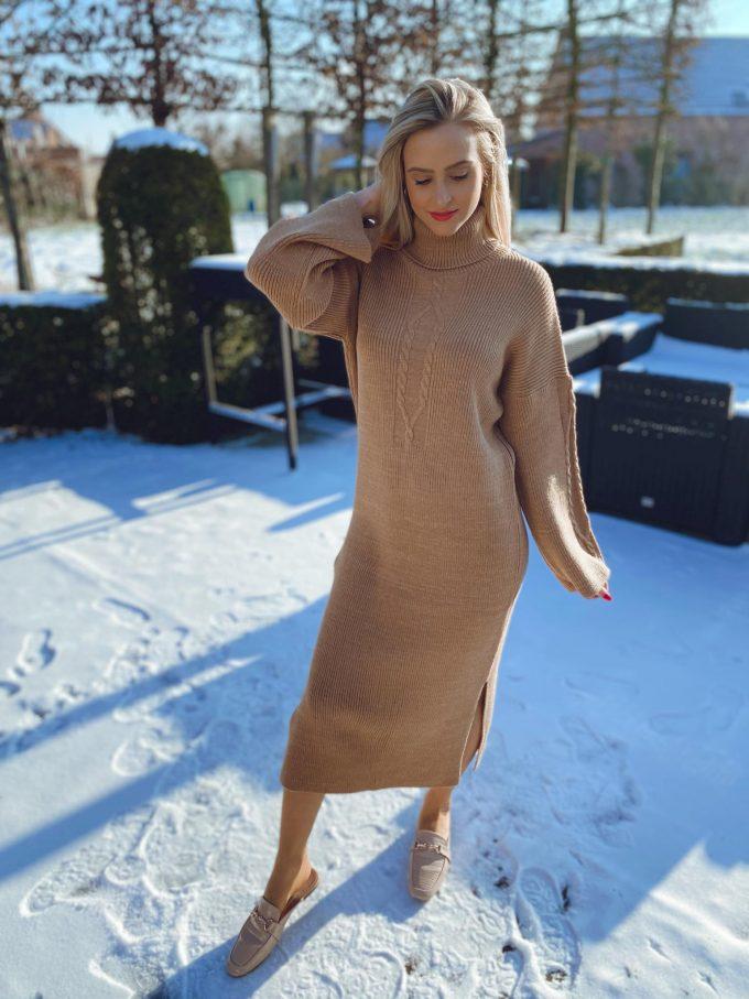 Camel dress.
