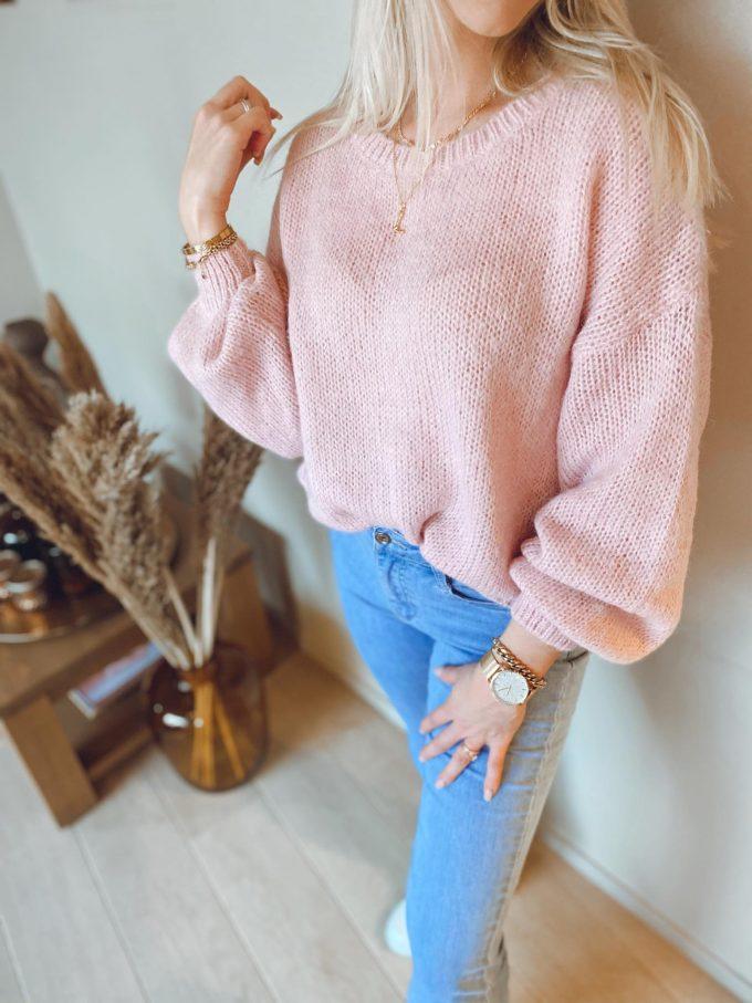 Sweater ronde hals.