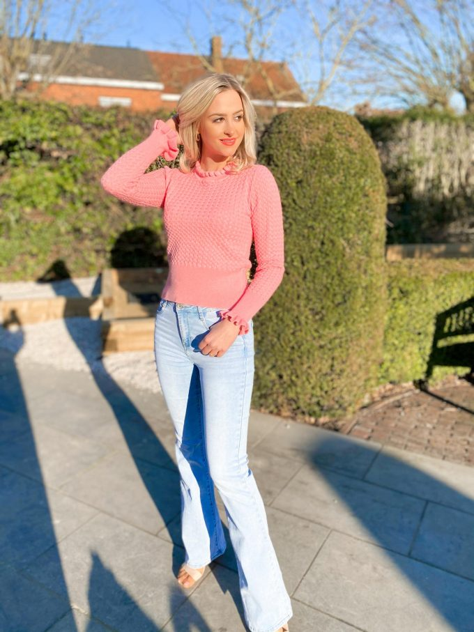 Flare jeans.