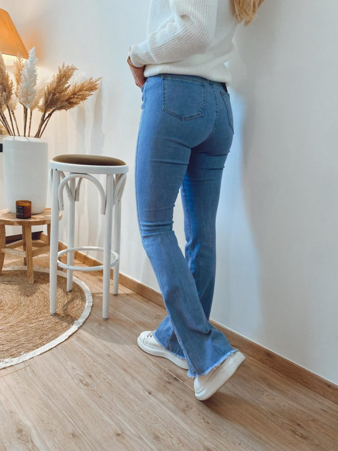 Flare jeans boord.
