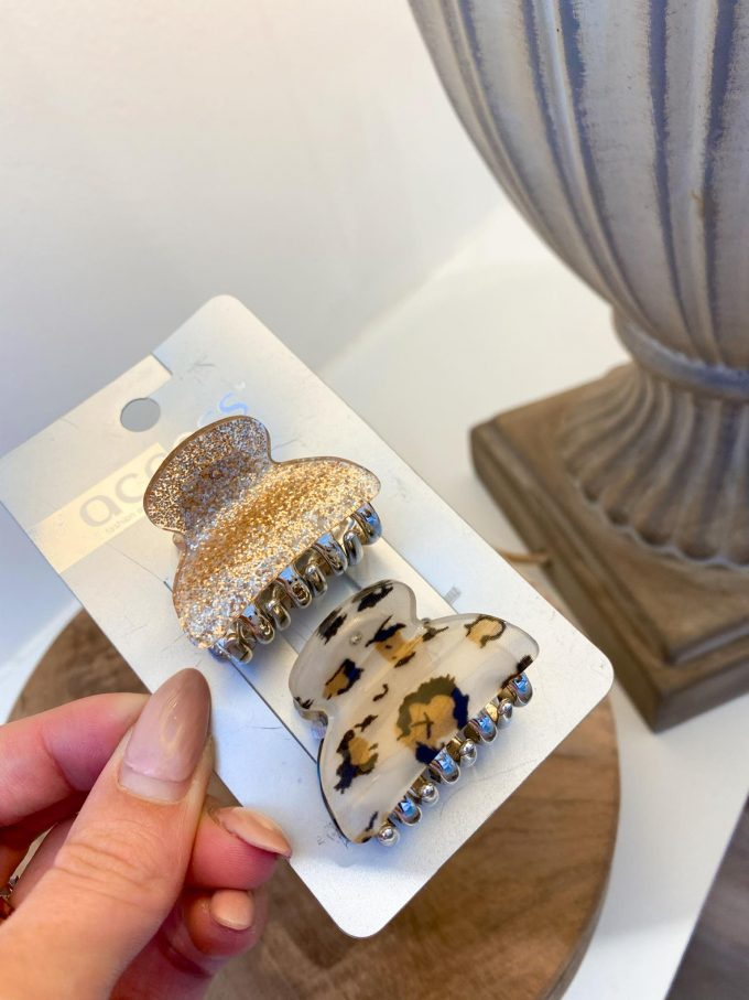 Set haarspeld Blinkend/leopard.