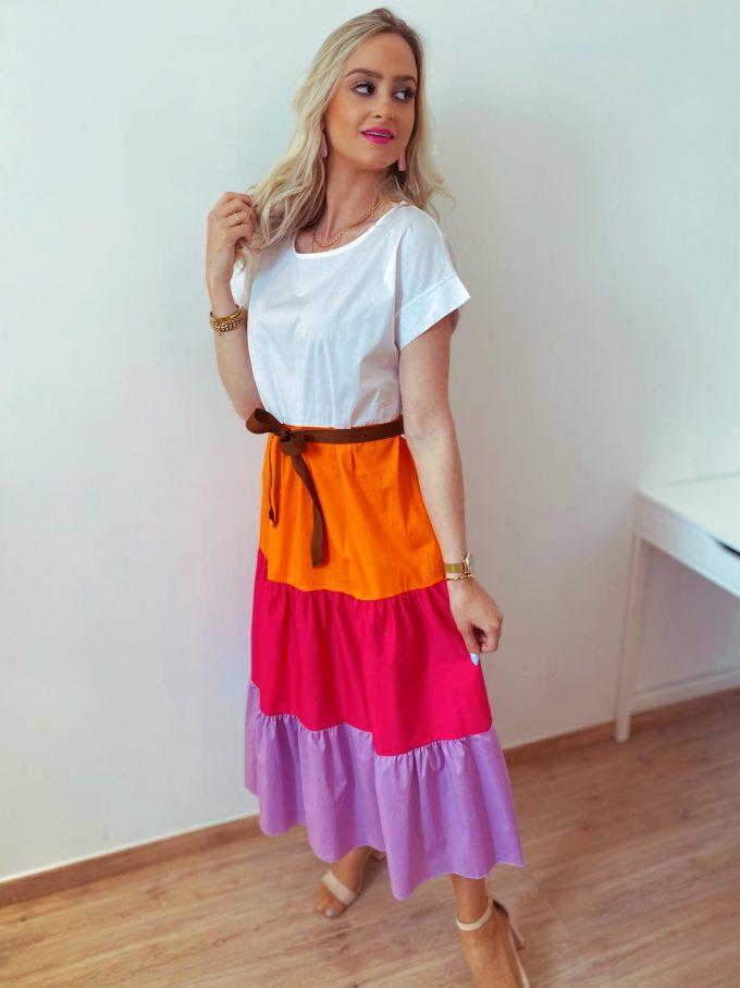 Bloccolor dress.