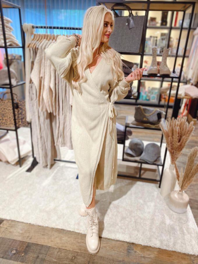 Alana knit wrap dress.