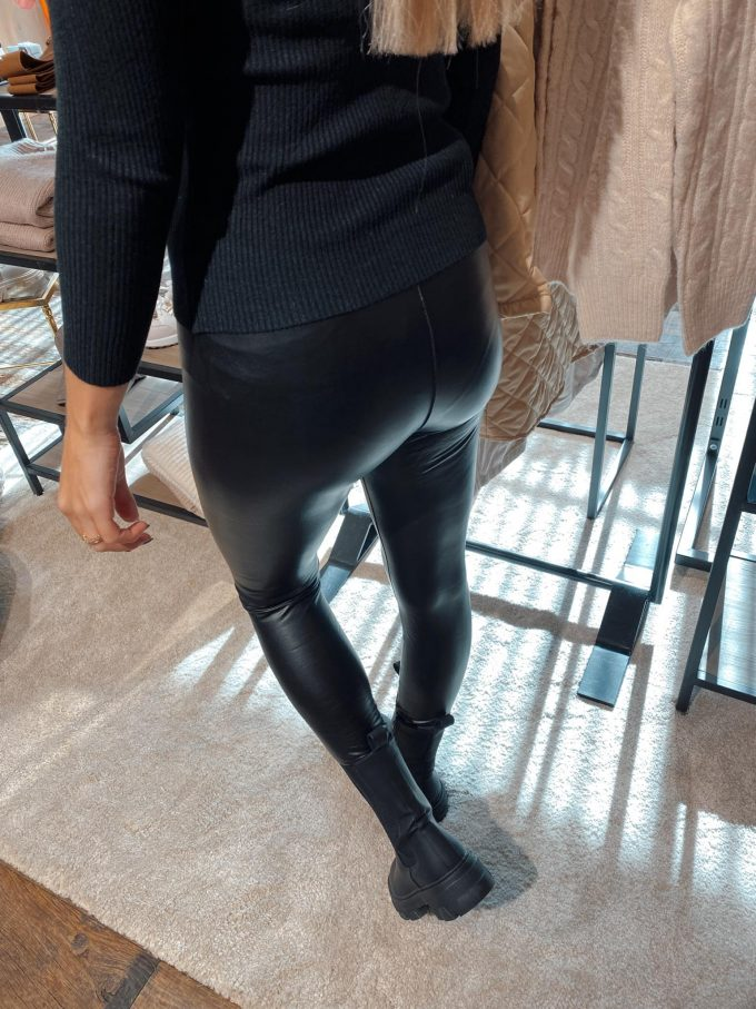 Black leather pants.